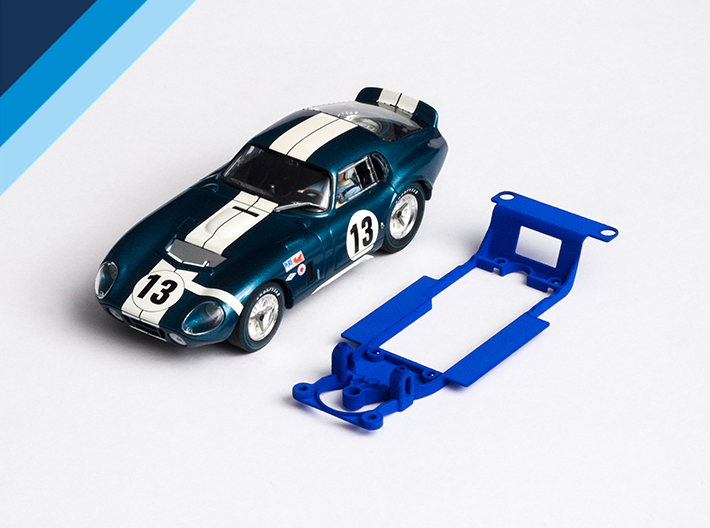 1/32 Monogram Cobra Daytona Chassis for Slot.it SW 3d printed Chassis compatible with Revell Monogram Shelby Cobra Daytona body (not included)