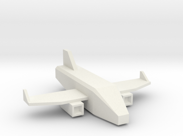 Low Poly 3D Airplane 3d printed