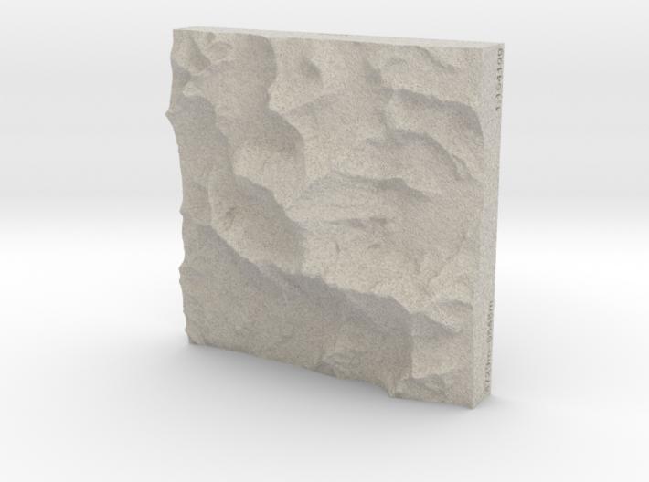 4''/10cm Mt. Everest, China/Tibet, Sandstone 3d printed