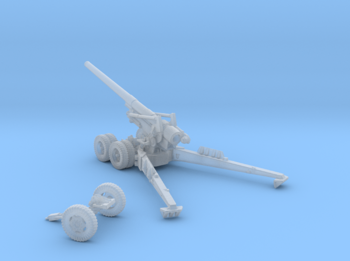 1/160 US 155mm Long Tom Cannon Open Fire Position 3d printed
