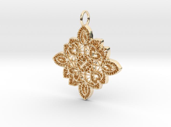 Lace Ornament Pendant Charm 3d printed