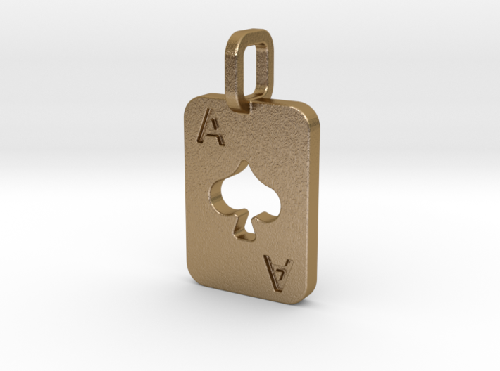 Ace of Spades Card 3d printed