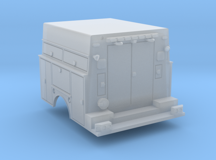 Utility Bed Tool Box Truck 1-87 HO Scale RPS Parts 3d printed