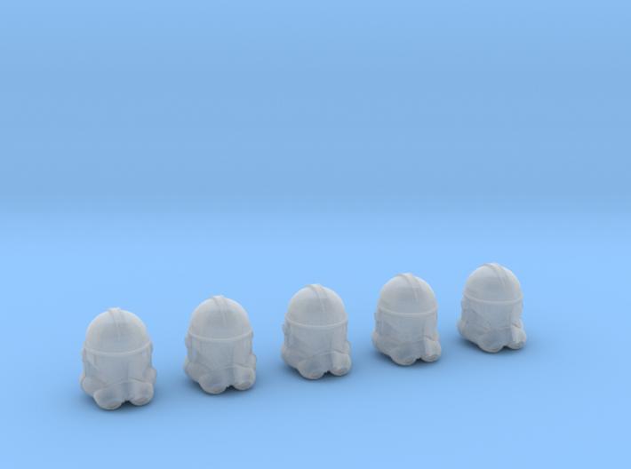 Clone Trooper Helmets - 5 Pack (1:58 Scale) 3d printed