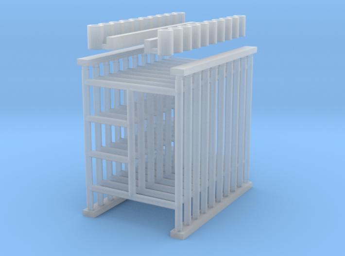 "'N Scale' - (10) 5'x6'-6"" Scaffolding 3d printed"