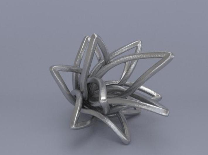 Spiral Flower 3d printed Render 4