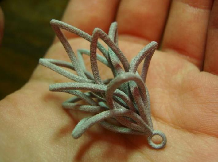 Spiral Flower with loop 3d printed Close up