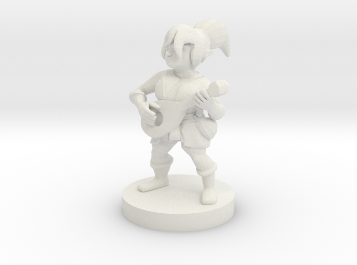 Halfling Female Bard 3d printed