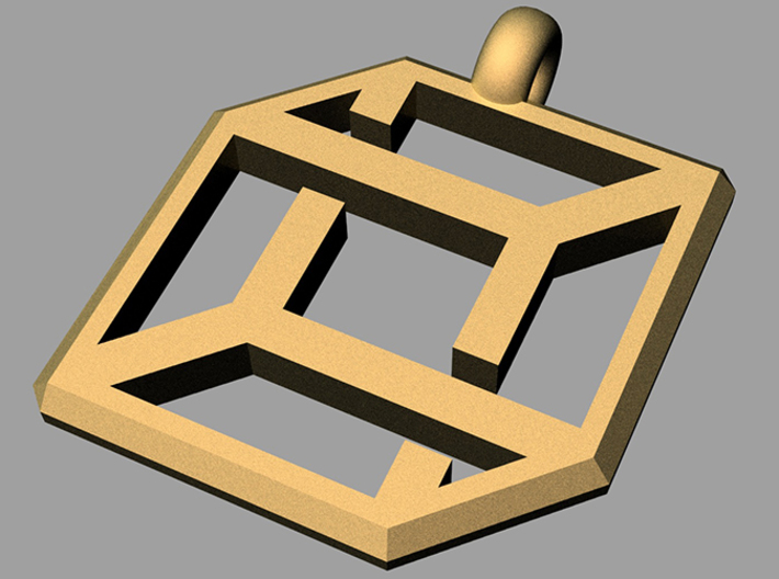 cube pendant impossible edition 3d printed