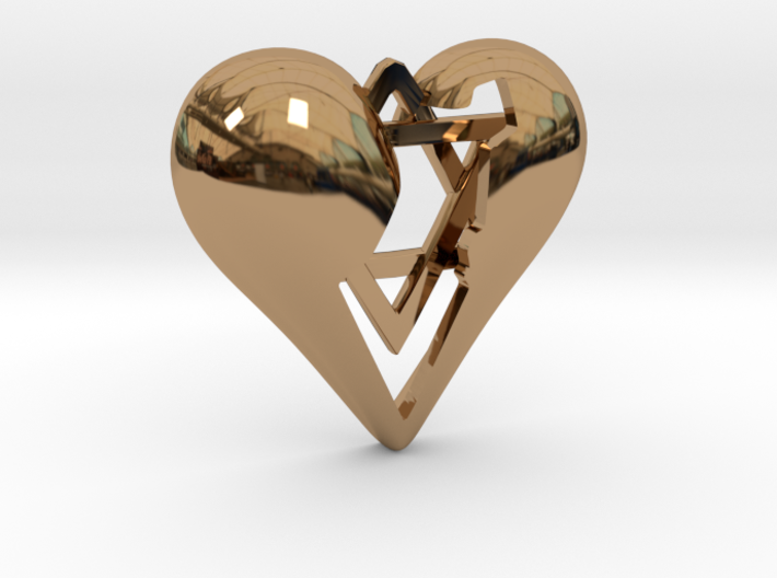 Israel in Heart Pendant 3d printed Israel in Heart