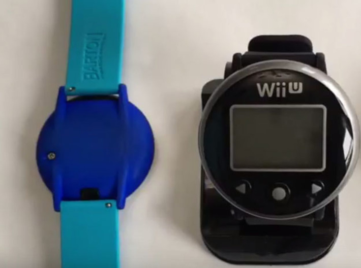 Wii Fit - Watch Backing 3d printed