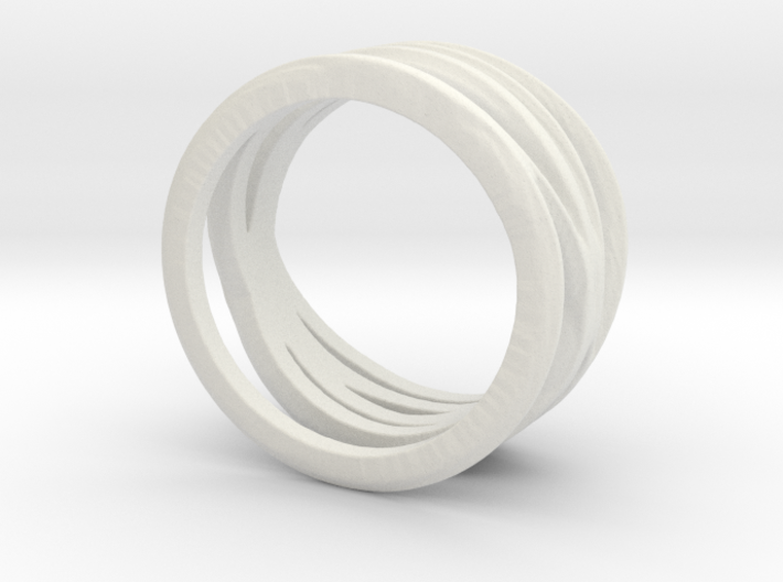 Lines Overlapping Ring Size 6.5 3d printed