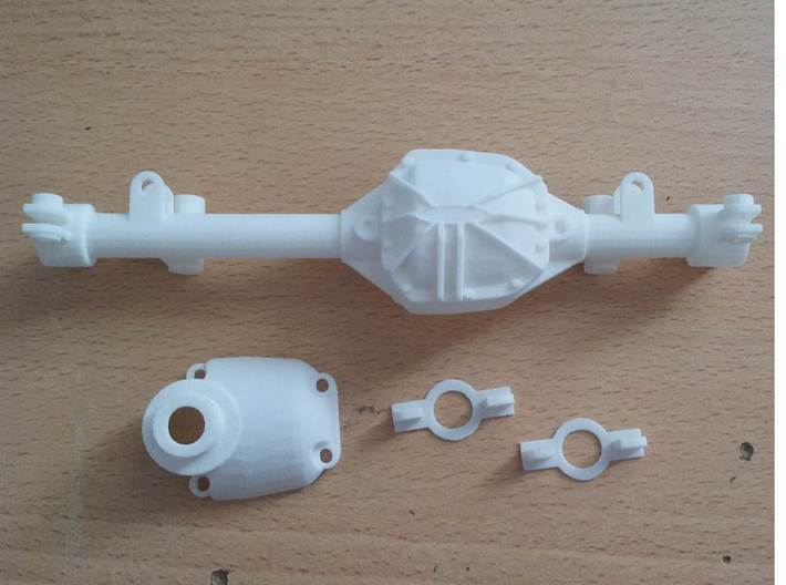 CC01 REAR AXLE HOUSING JOIN WITH DAMPER MOUNT 3d printed