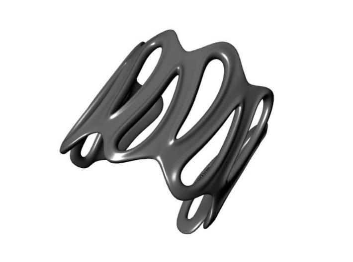 sinuous bracelet 64 3d printed Description