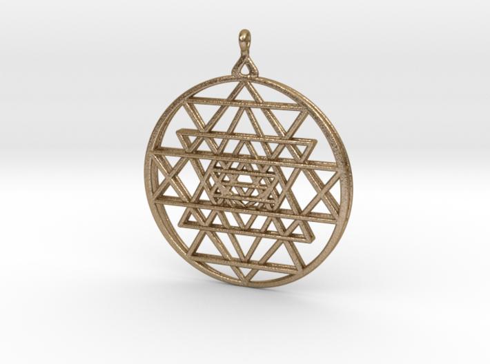 2.5D Sri-Yantra  6.3cm (All Metals) 3d printed
