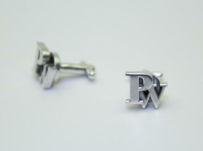 Custom cufflink nr.24 3d printed Silver Cufflinks