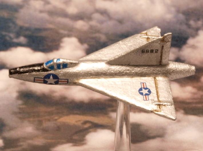 Convair XF-92A (2 airplanes set) 1/285 6mm 3d printed Convair XF-92A in early configuration with no afterburning engine