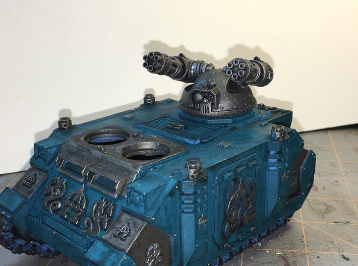 V1A Linebacker: Twin Gat Cannon Turret  3d printed