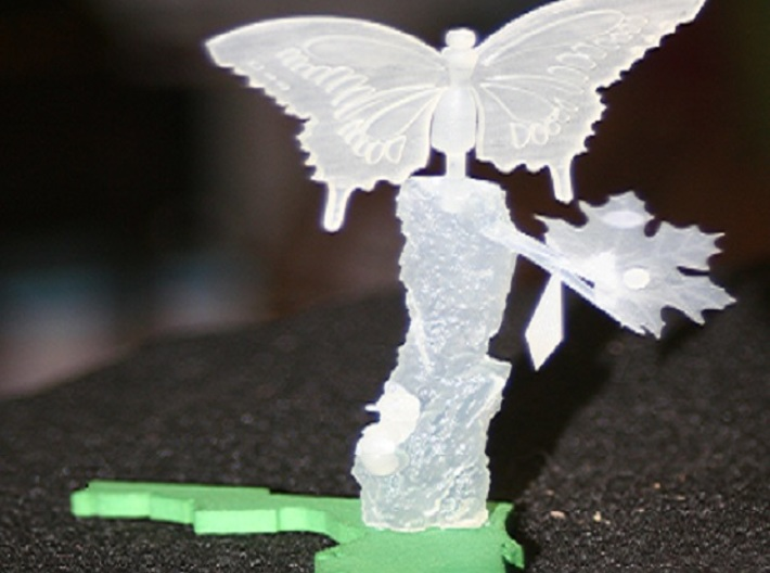 Life Of A Butterfly2 3d printed finished product unpainted