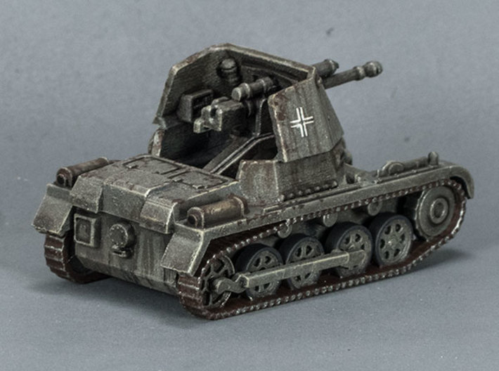 PanzerJager 1 conversion (x3) 3d printed Here is the conversion module in place on the injection-moulded plastic Minairons kit