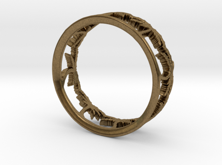 Palm Tree Ring 3d printed