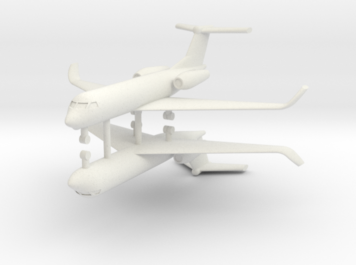 1/285 Low Detail G550 Gulfstream (x2) 3d printed