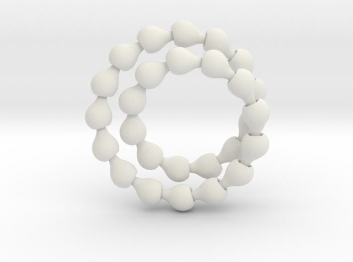 Fat ball jointed necklace (tear links) 3d printed