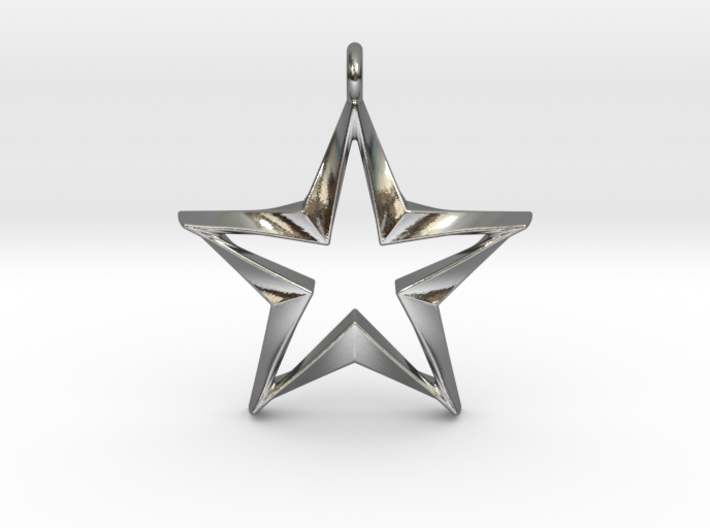 Twisting Star Pendant 3d printed