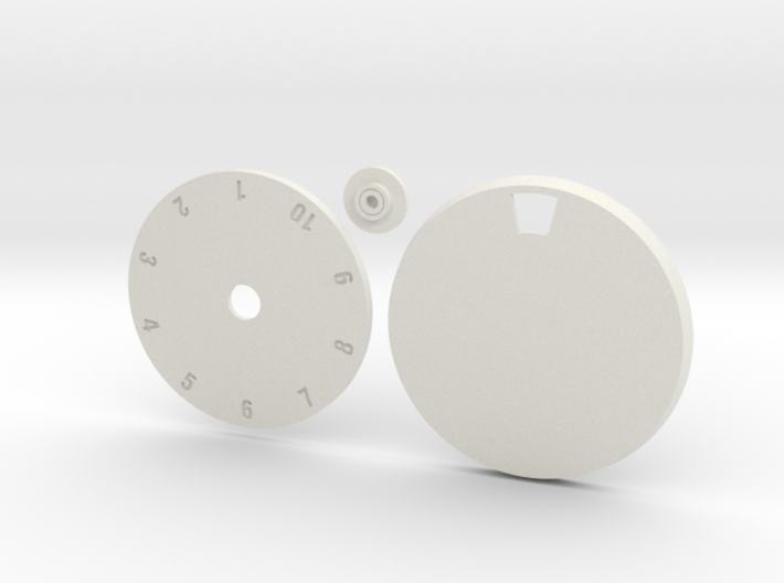 40mm Round Wound Tracking Base 3d printed