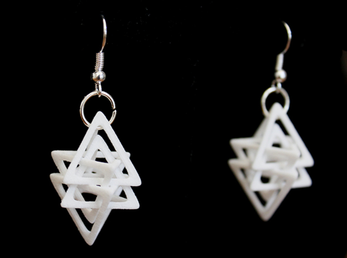 Dual Tetrahedron Earring 3d printed