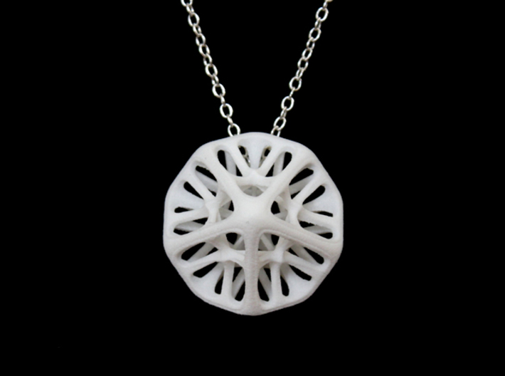 Decahedron Pendant 3d printed