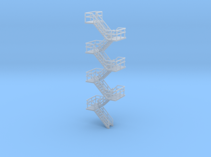 N Scale Staircase H80mm 3d printed