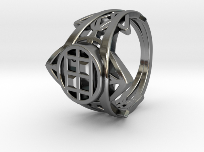 Enneper Curve Twin Ring 3d printed Enneper Curve Twin Ring