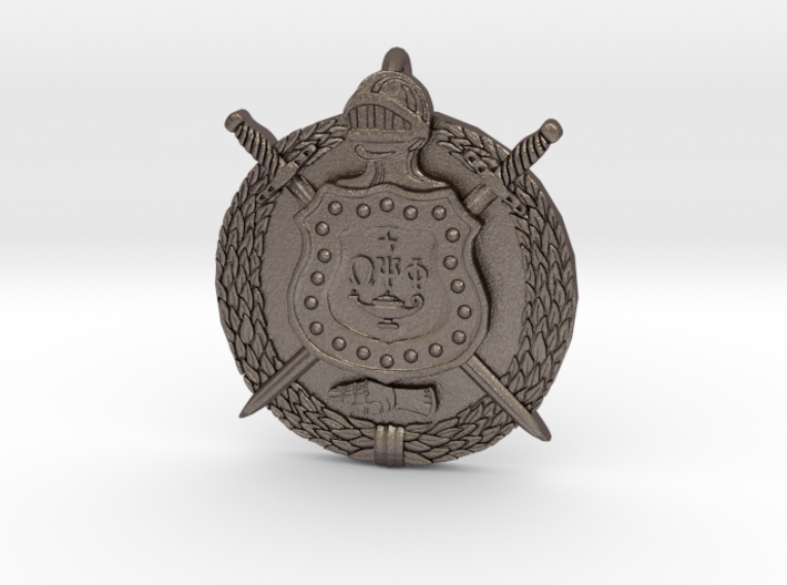 Omega Psi Phi Crest Pendant Keychain 3d printed
