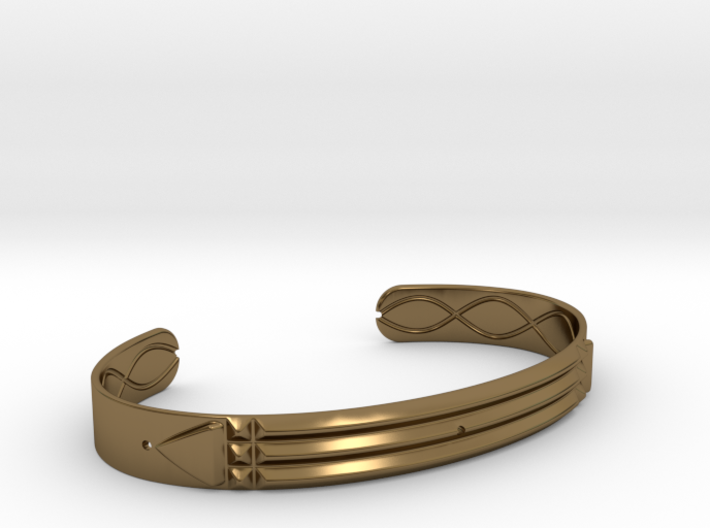 Atlantis Cuff Bracelet 3d printed