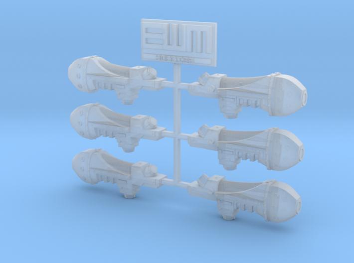 Archaic Plasma Gun x6 3d printed