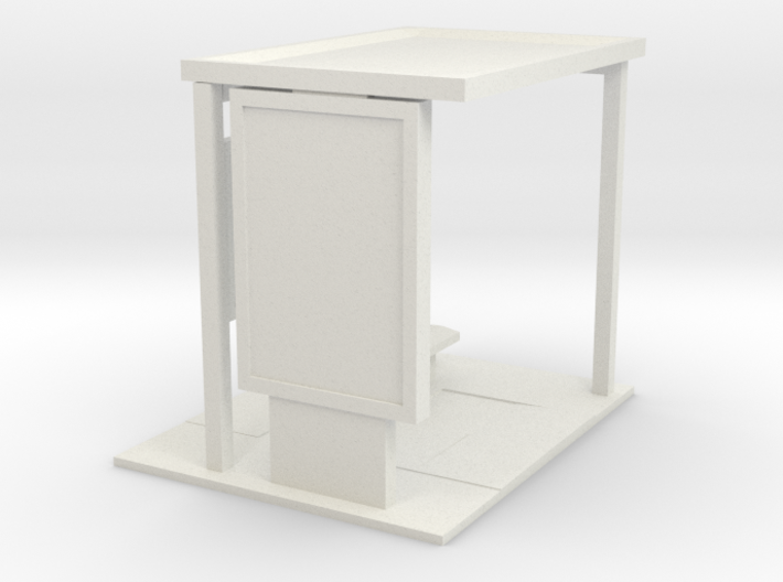28mm Bus Shelter base for modern era/ near future 3d printed