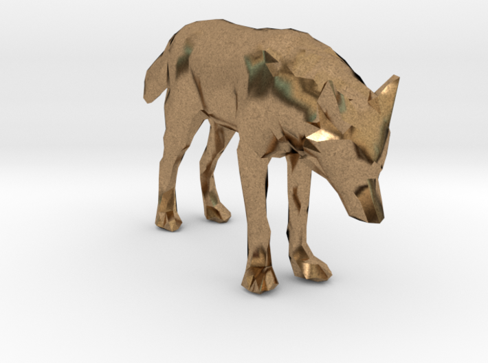 Lowpoly Wolf 3d printed