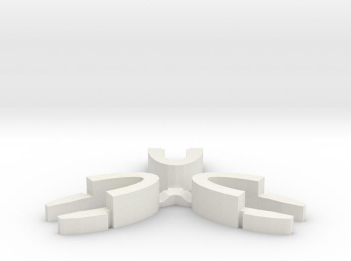 Set of 3 - Globe clamp (Massive armatures) 3d printed