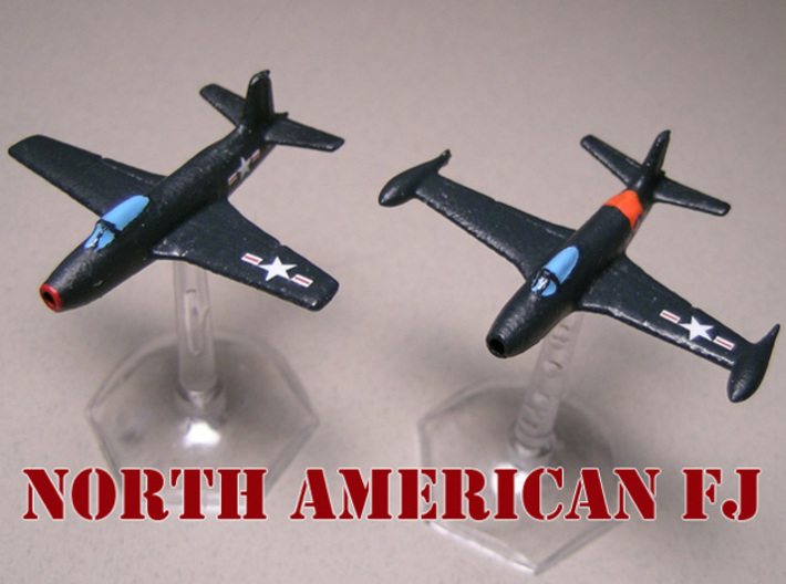North American Aviation FJ-1 Fury (Pair) 1/285 6mm 3d printed North American FJ-1 Fury painted by Fred O.