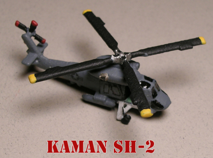 Kaman SH-2 Seasprite (with landing gear) 1/285 6mm 3d printed Kaman SH-2 Seasprite landed painted by Fred O.
