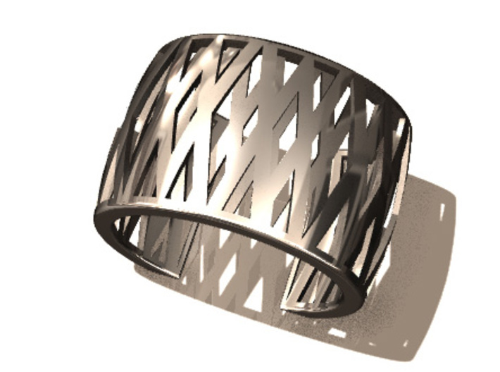 Double-Crossed Cuff 3d printed