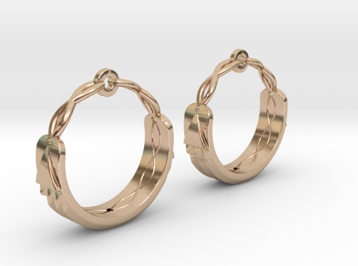 Atlantis Earrings 3d printed