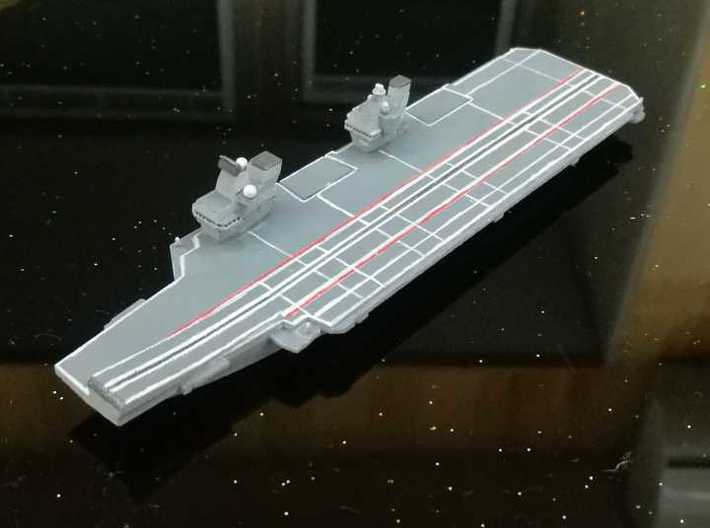 Queen Elizabeth-class aircraft carrier, 1/1800 3d printed Painted Sample