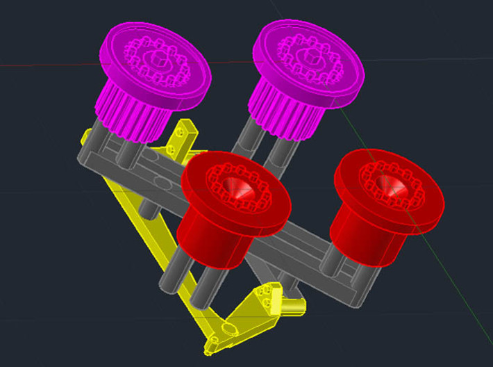 1:35 Bedford QLT Hubs (Late with flanges) 3d printed parts on sprue
