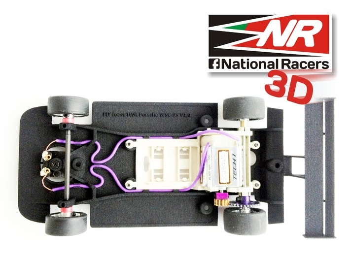 3D chassis - Fly Joest TWR Porsche WSC 95 (SW/In) 3d printed