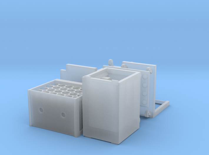 HO/1:87 Rollcontainer set 1a (without bottles) kit 3d printed