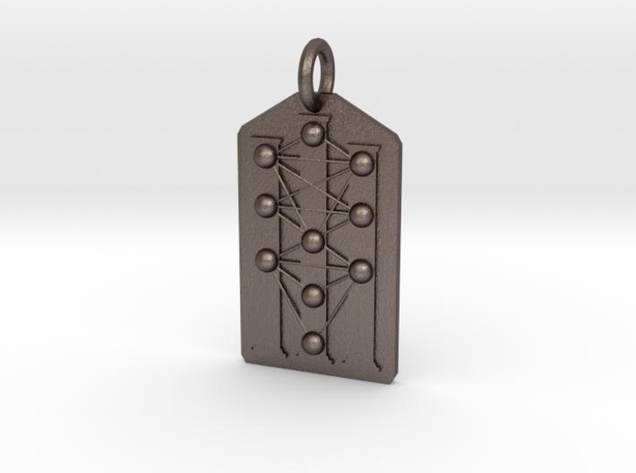 Three Pillars Tree of Life Medallion 3d printed