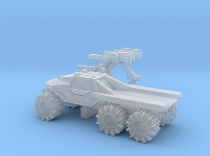 All-Terrain Vehicle 6x6 closed cab with open cargo 3d printed