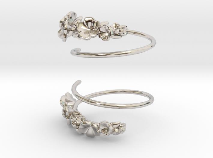 Flower Spiral Earrings 3d printed